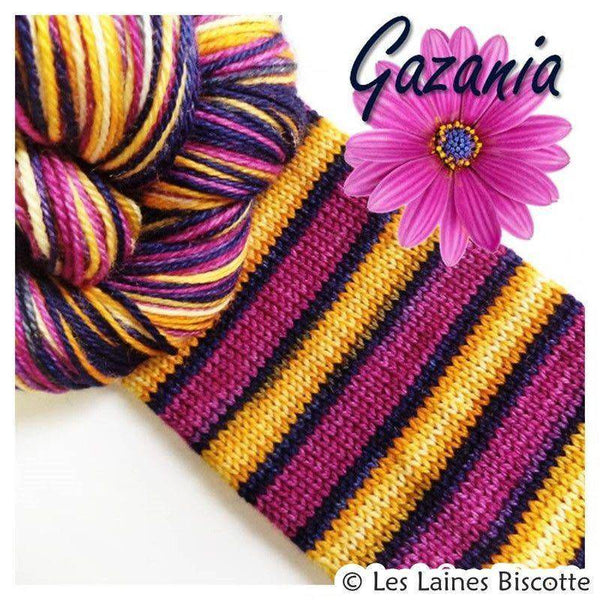 Biscotte Yarns GRIFFON merino wool - Self-striping - Gazania