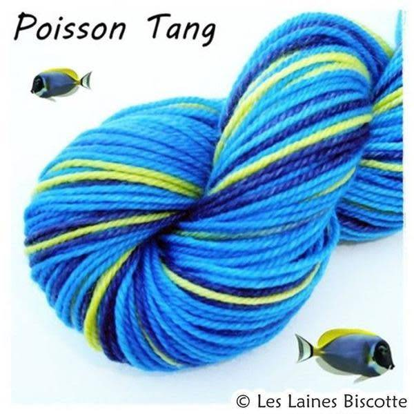 Biscotte Yarns GRIFFON merino wool - Self-striping - Tang Fish