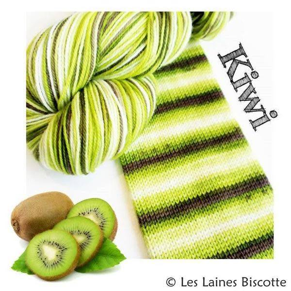 Biscotte Yarns GRIFFON merino wool - Self-striping - Kiwi