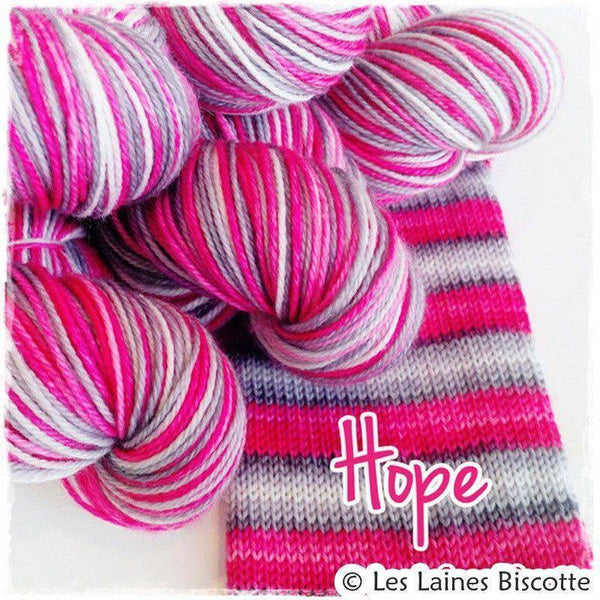 Biscotte Yarns SELF-STRIPING yarn - Bis-Sock Hope