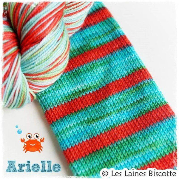 Biscotte Yarns SELF-STRIPING yarn - Bis-Sock Arielle