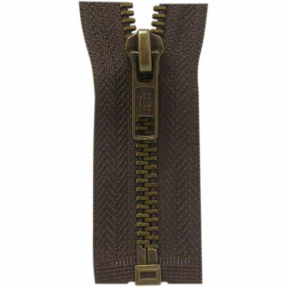 COSTUMAKERS Outerwear One Way Separating Zipper55cm 22''Sept.  brown 1753