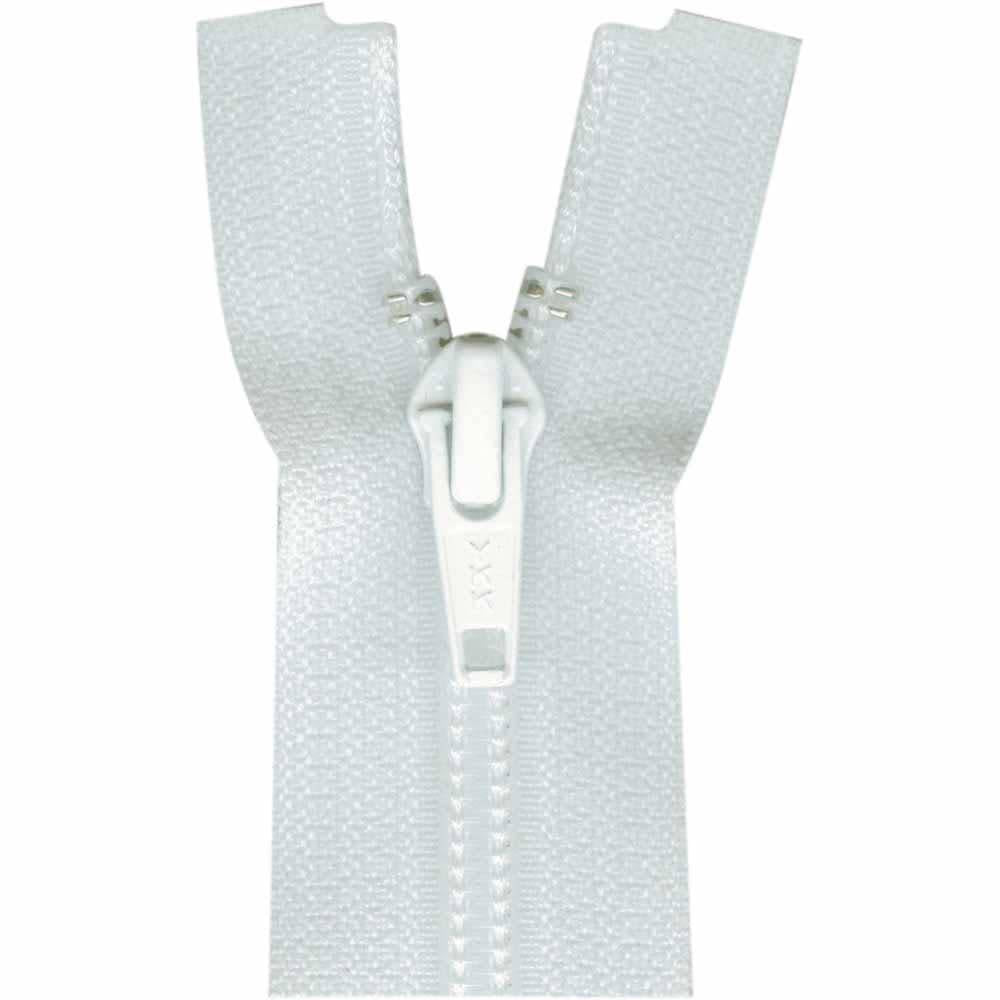COSTUMAKERS Activewear One Way Separating Zipper 40cm 16''White 1760
