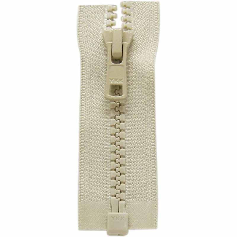 COSTUMAKERS Activewear One Way Separating Zipper 55cm 22''Natural 1764