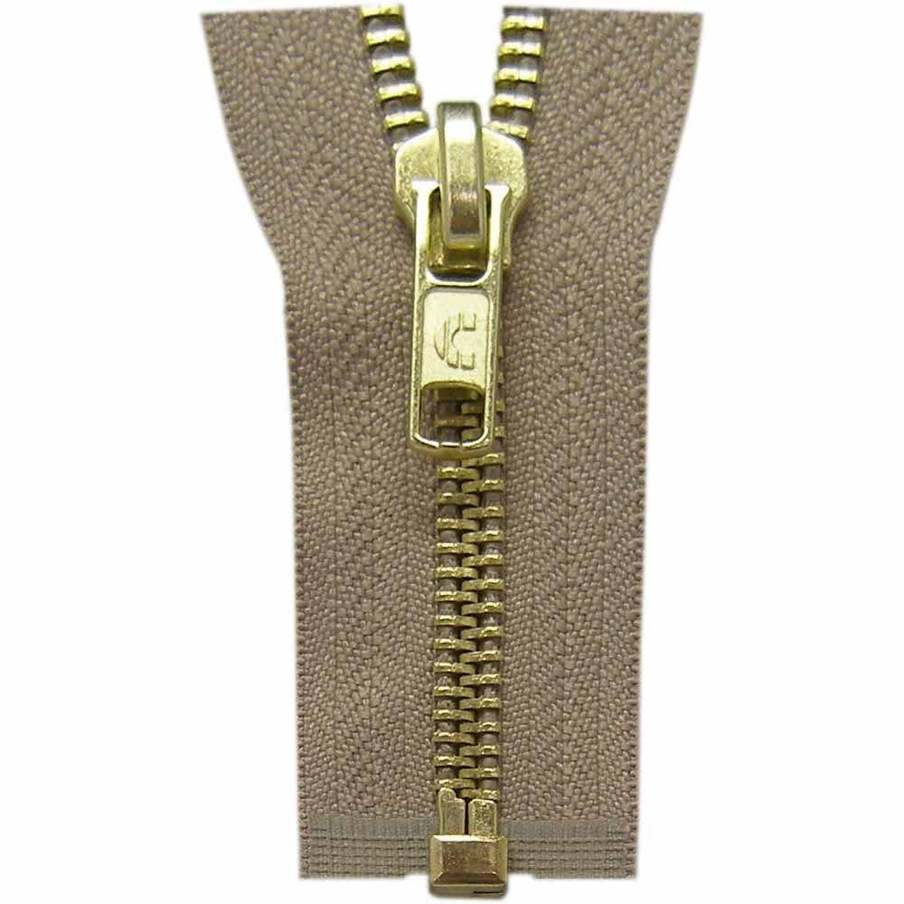 COSTUMAKERS Outerwear One Way Separating Zipper70cm 28''Light Beige 1754