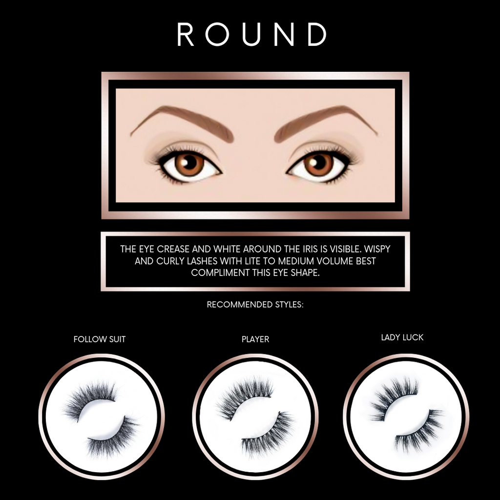 Find Lashes for Round Eye Shapes