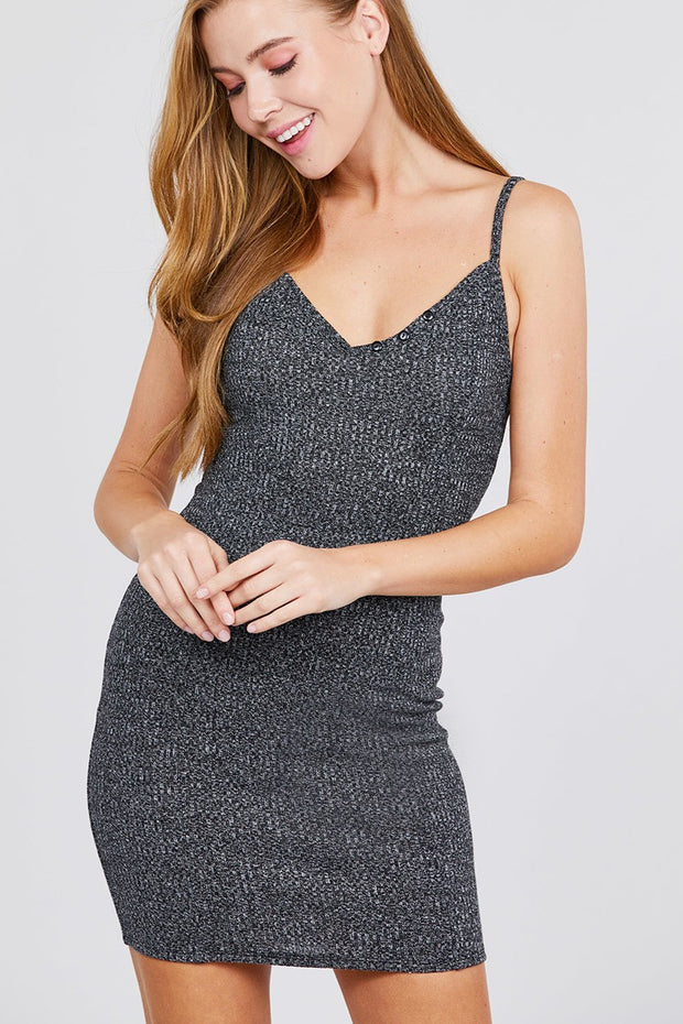 Party Rib Cami Mini Dress