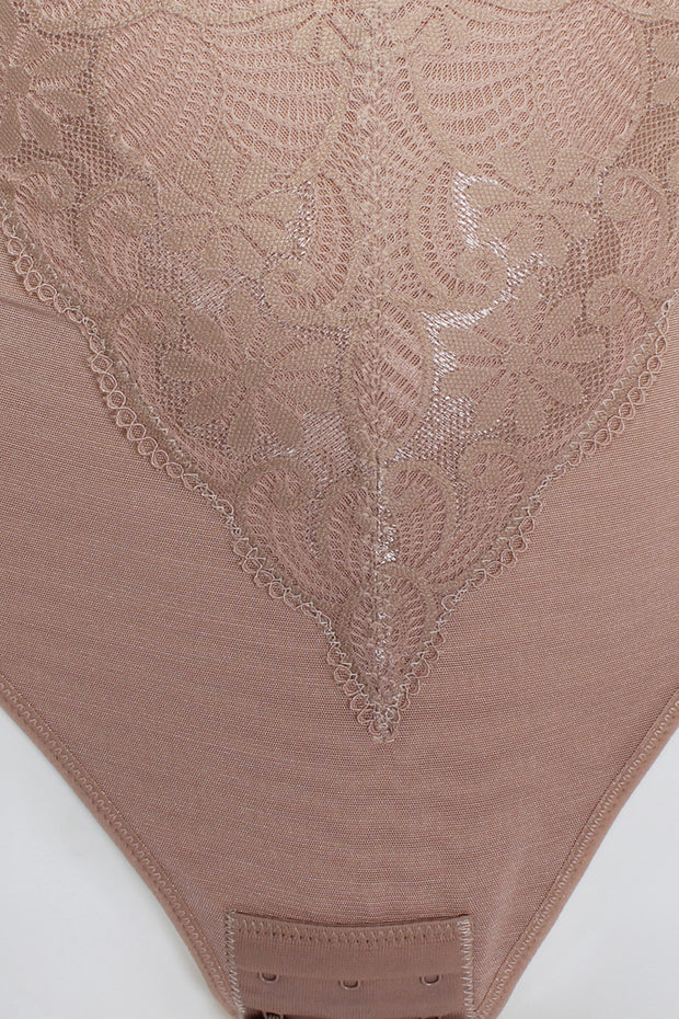 Lace And Mesh Bodysuit Shapewear - Avantchi.com