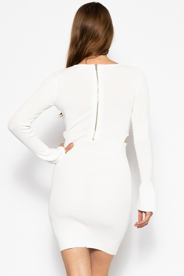 Bodycon Knit Dress Sweater Dress - Avantchi.com