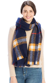 Checker Plaid Pattern Scarf - Avantchi.com