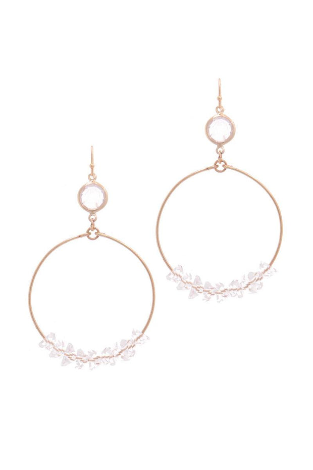 Cutout Circle Drop Earring - Avantchi.com