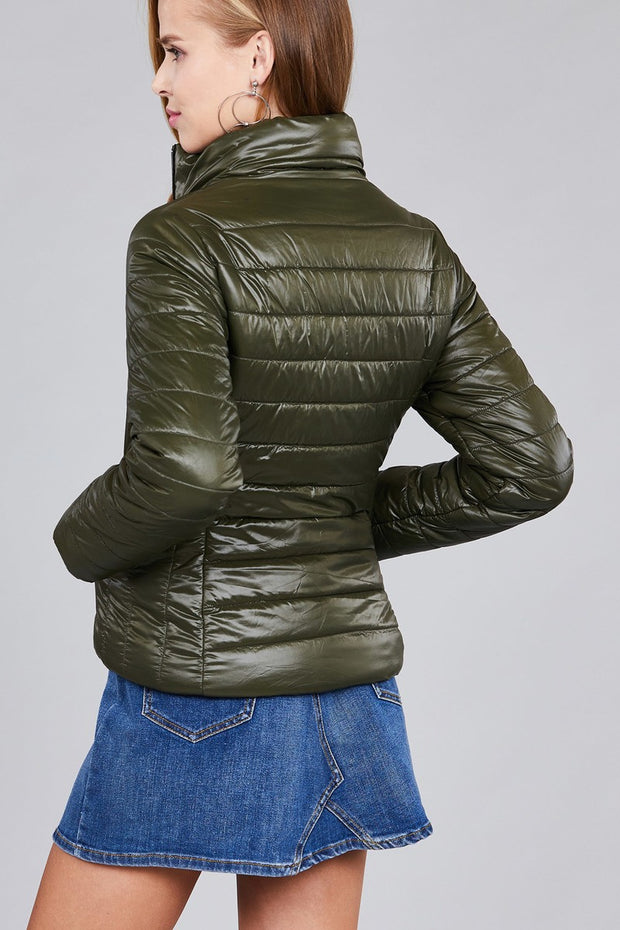 Long Sleeve Quilted Padding Jacket - Avantchi.com