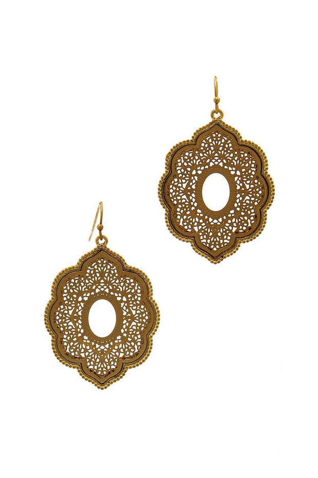 Modern Chic Two Tone Drop Earring - Avantchi.com