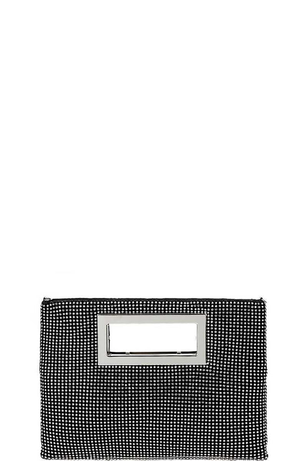 Designer Fashion Multi Rhinestone Clutch Purse With Chain - Avantchi.com