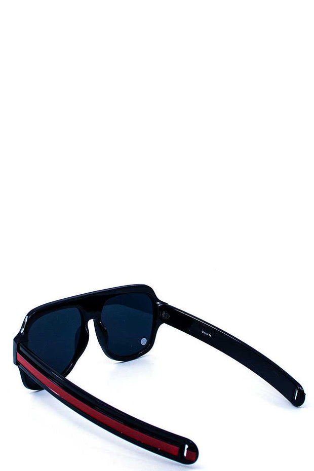 Modern Striped Leg Tint Sunglasses - Avantchi.com