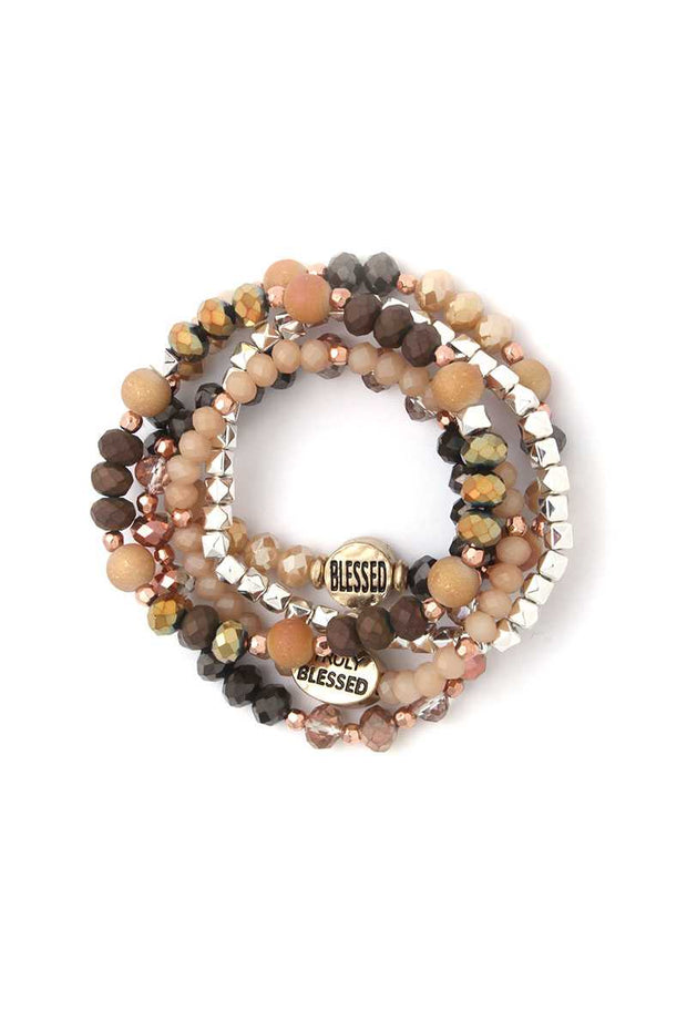 Blessed Beaded Stretch Bracelet - Avantchi.com