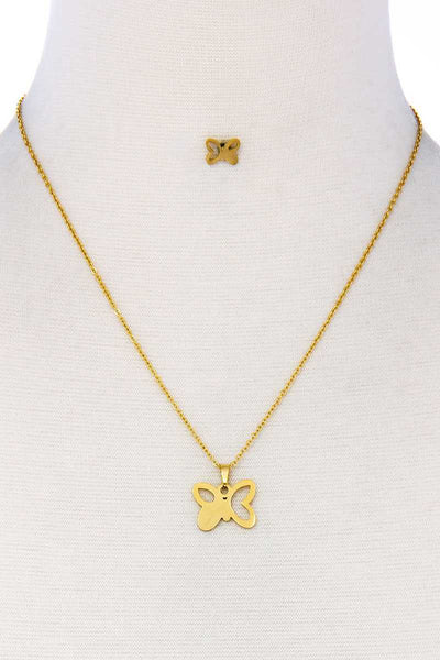 Fashion Butterfly Pendant Necklace