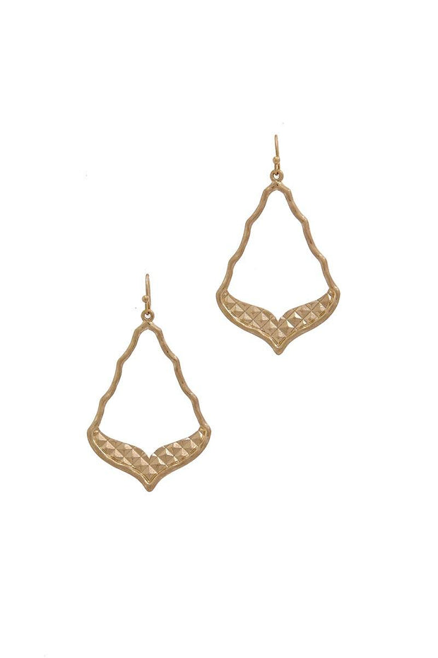 Cutout Shaped Metal Drop Earring
