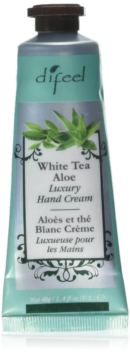 Difeel Luxury Moisturizing Hand Cream - White Tea & Aloe 1.4 oz.