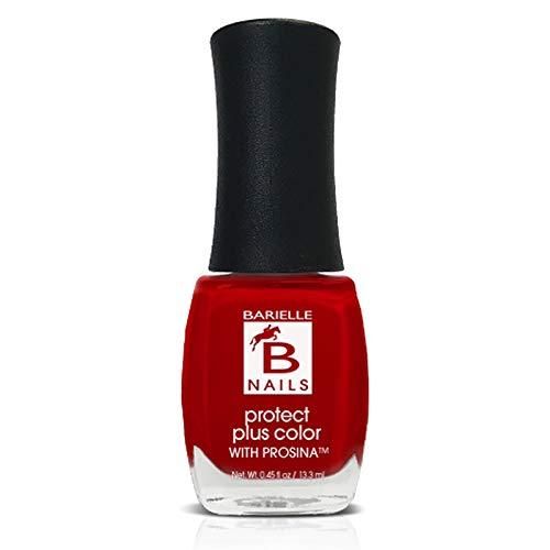 Protect+ Nail Color w/ Prosina - Blushing Beauty (Creamy Bright Red) - Barielle - America's Original Nail Treatment Brand