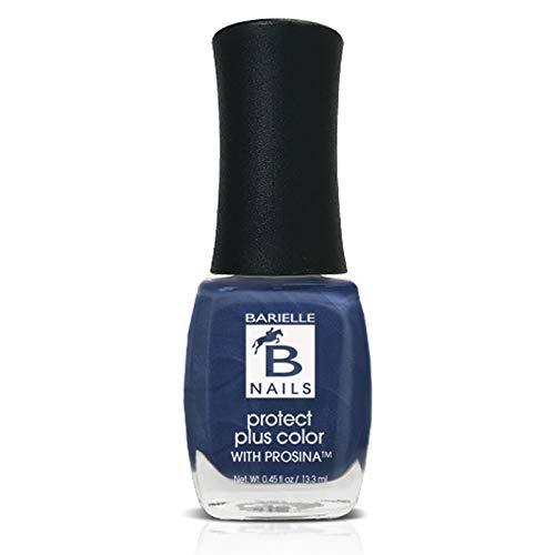 Protect+ Nail Color w/ Prosina - Jordana's Skinny Jeans (A Frosted Sapphire Blue) - Barielle - America's Original Nail Treatment Brand