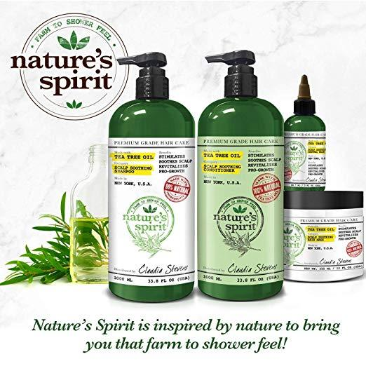 Nature's Spirit Argan Oil Shampoo 33 oz.