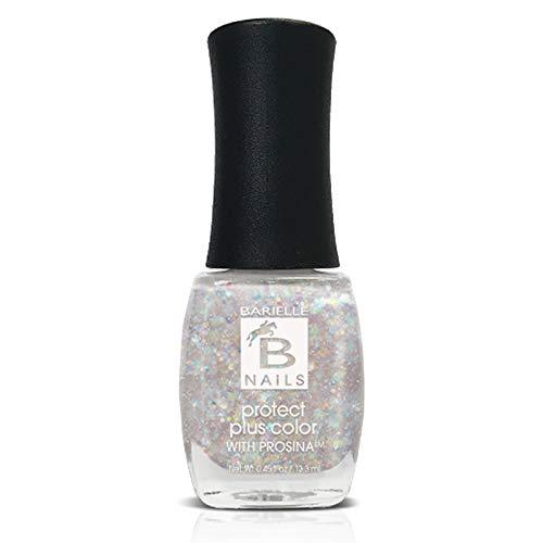 Protect+ Nail Color w/ Prosina - Angel Dust (A Sheer Iridescent Glitter) - Barielle - America's Original Nail Treatment Brand