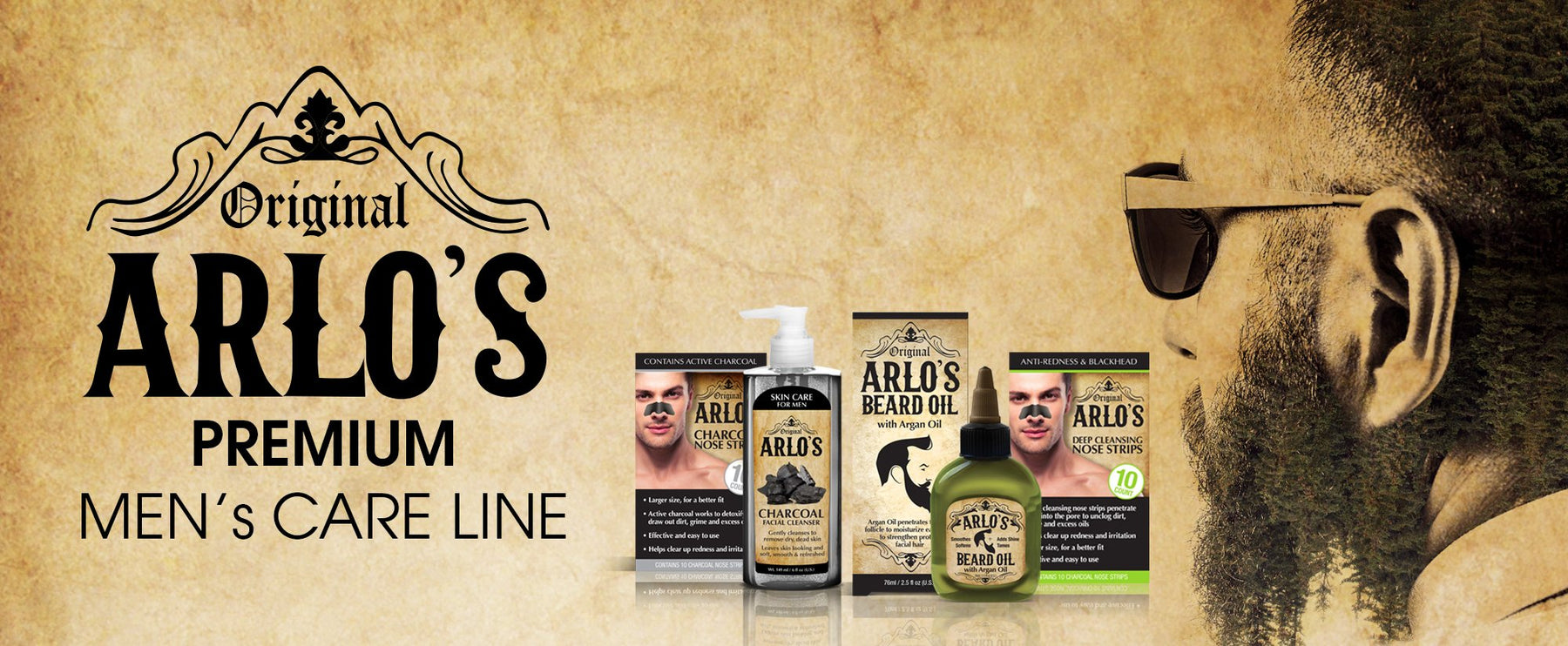 Arlo's Hair and Beard Oil with Castor Oil 8 oz.