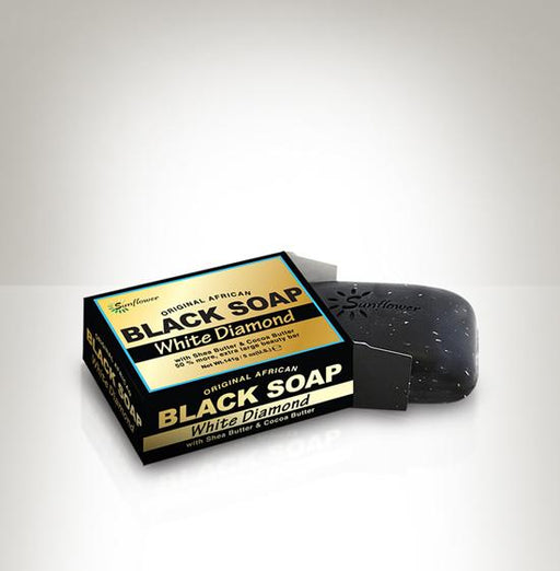 Difeel Original African Black Soap - White Diamond 5 oz.