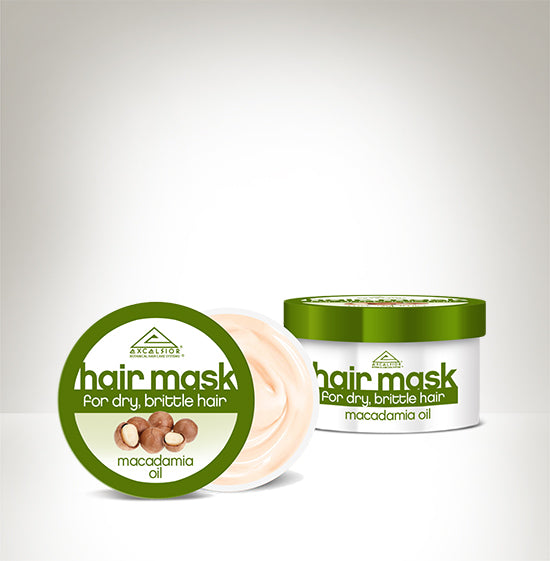 MASK FOR DRY, BRITTLE HAIR WITH MACADAMIA OIL