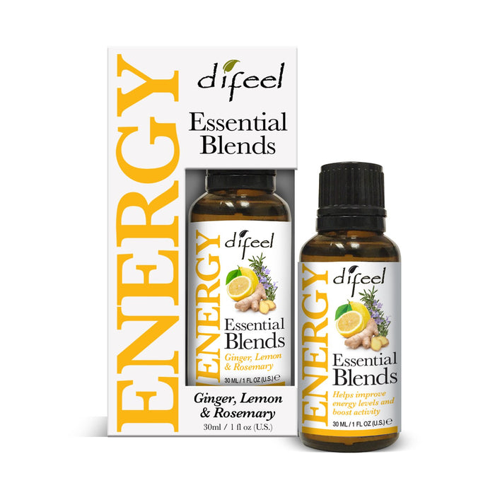 Difeel 100% Natural Essential Oil Blends - Energy 1 oz.