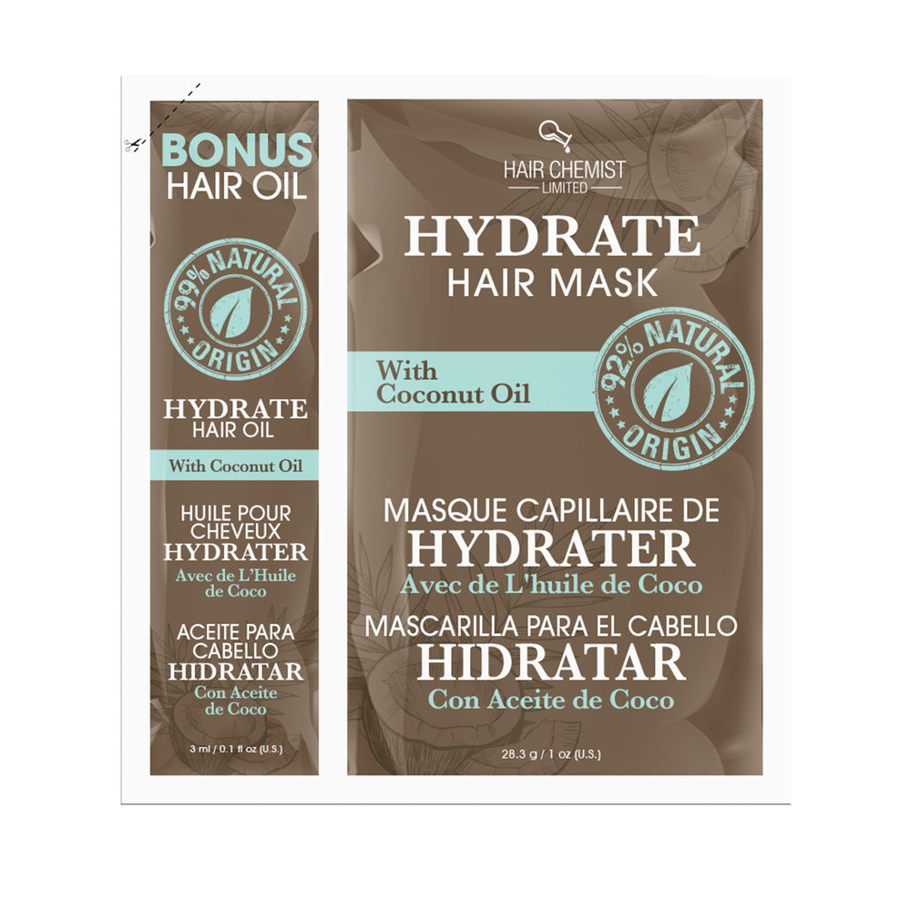 Hair Chemist Hydrate Hair Mask with Coconut Oil Packette 1 oz.