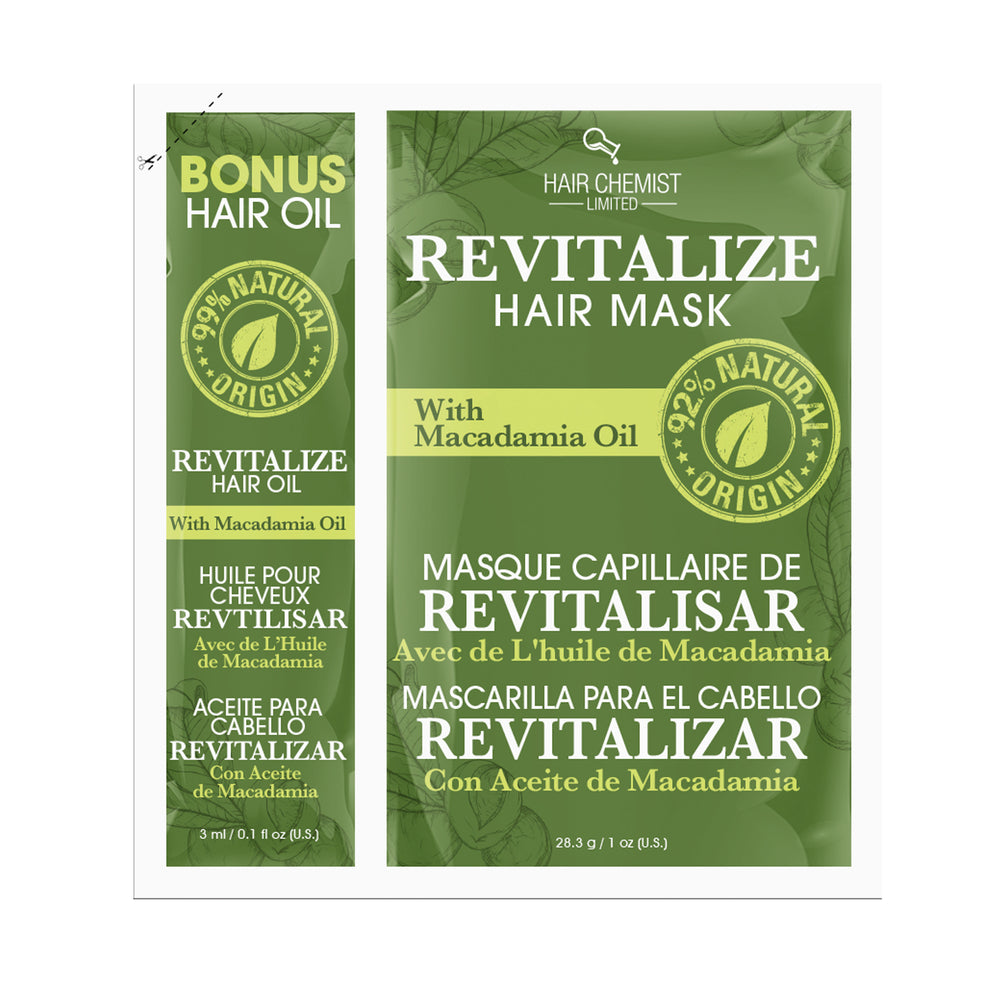 Hair Chemist Revitalize Hair Mask with Macadamia Oil Packette 1 oz.