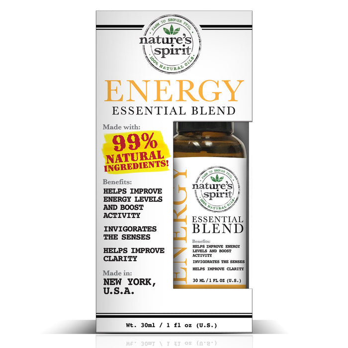 Nature's Spirit 100% Natural Essential Oil Blends - Energy 1 oz.