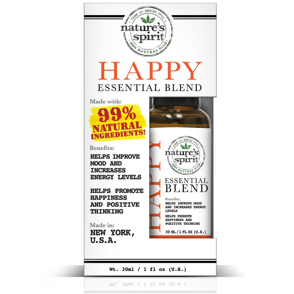 Nature's Spirit 100% Natural Essential Oil Blends - Happy - 1 oz.
