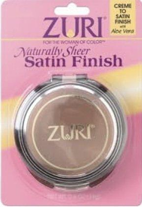 Zuri Naturally Sheer Satin Finish Pressed Powder - Toffee