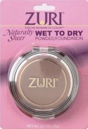 Zuri Naturally Sheer Pressed Powder - Wet To Dry - Ebony Whisper