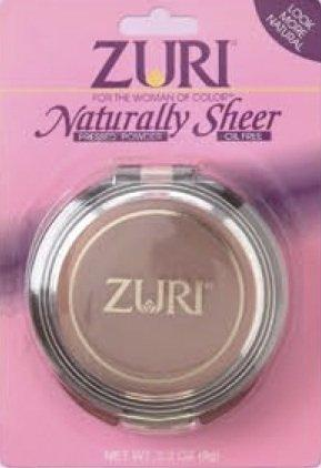 Zuri Naturally Sheer Pressed Powder - Soft Brown