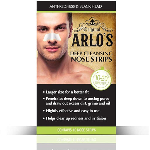 Arlo's Men's Deep Cleansing Nose Strips 10-Count