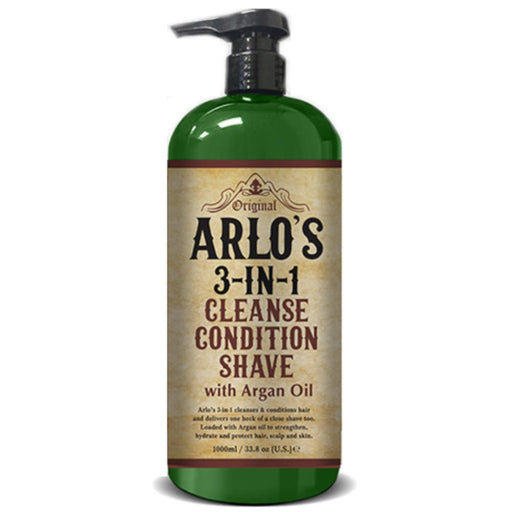 Arlo's 3-in-1 Shampoo/Conditioner/Shave with Argan Oil 33 oz.