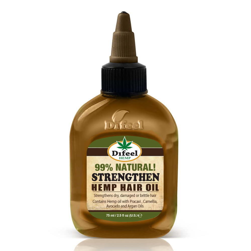 Difeel Hemp 99% Natural Hemp Hair Oil - Strengthen 75 ml