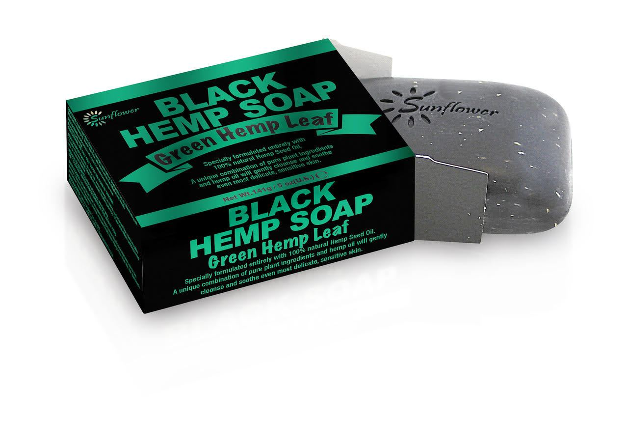 Difeel Black Hemp Soap - Green Hemp Leaf