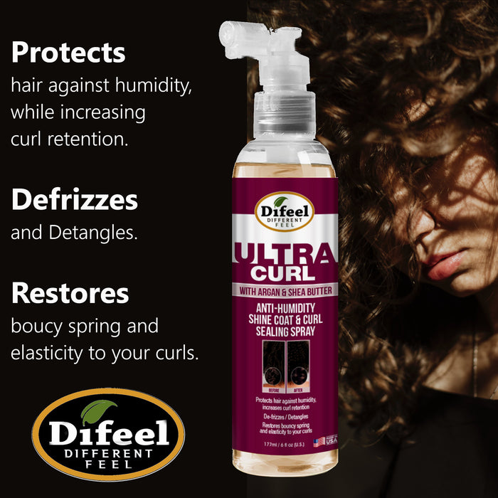 Difeel Ultra Curl Anti-Humidity Sealing Spray 8 oz.