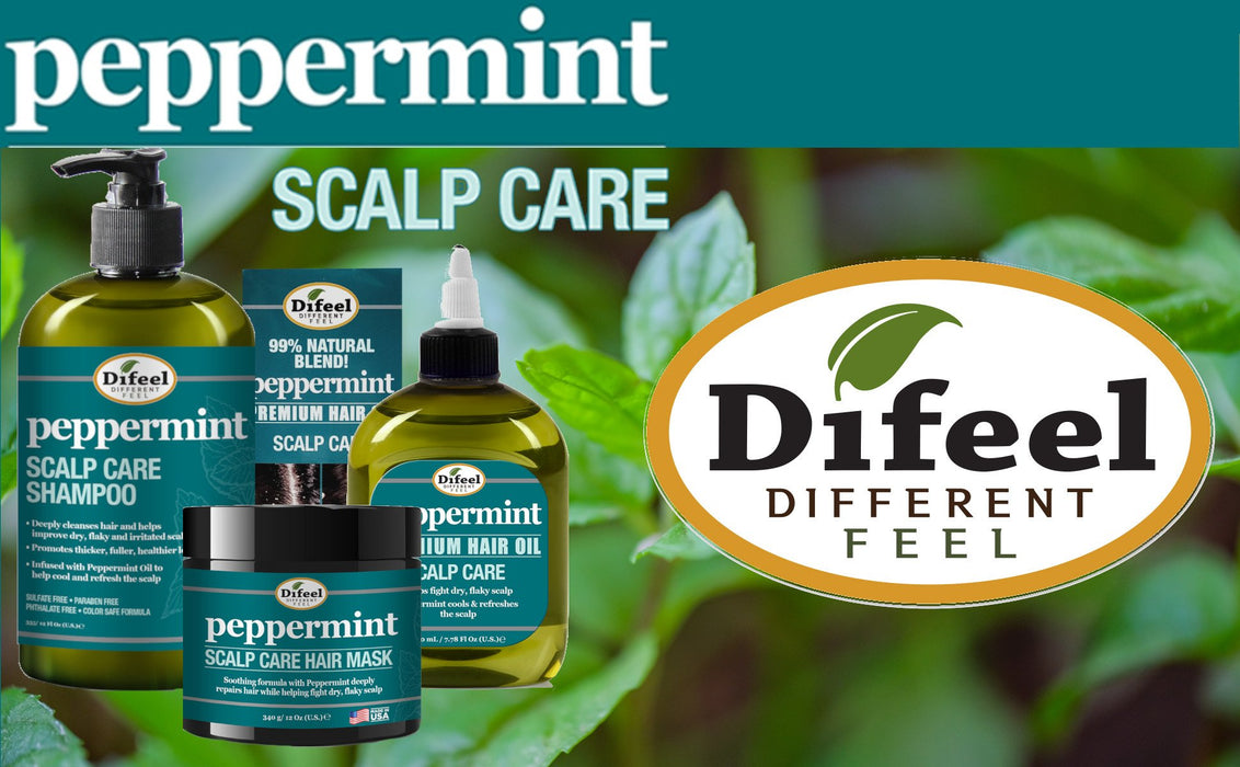 Difeel Peppermint Scalp Care Shampoo 12 oz.
