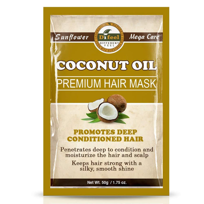 Difeel Premium Deep Conditioning Hair Mask - Coconut Oil 1.75 oz.