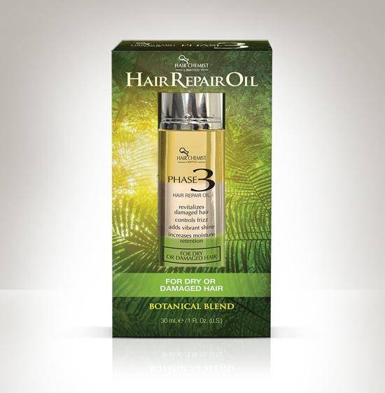 Hair Chemist Phase 3 Hair Repair Oil for Dry or Damaged Hair 1 oz.