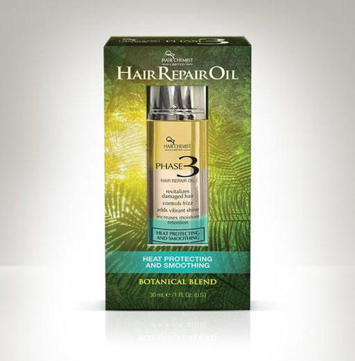 Hair Chemist Phase 3  Hair Repair Oil - Heat Protecting and Smoothing 1 oz.