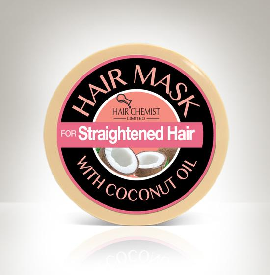 Hair Chemist Hair Mask for Straightened Hair with Coconut Oil 2 oz.