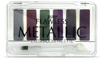 Zuri Flawless Metallic Eye Shadow Palette 6-Shades