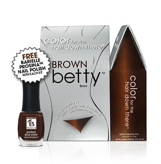 Betty Beauty Brown Betty Color Kit w/Free Prosina Nail Polish